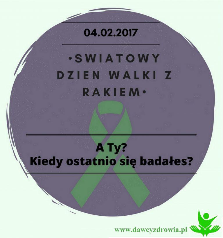 04. 02. – Światowy Dzień Walki z Rakiem